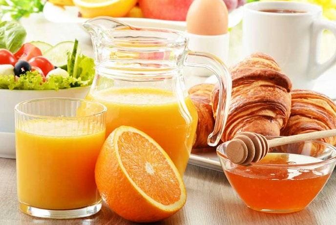 Jugo de naranja y miel