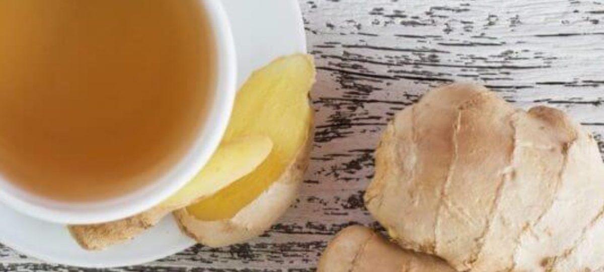 Taza de té de jengibre