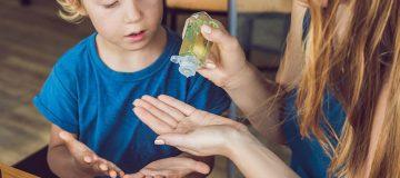 protección de gel antibacterial
